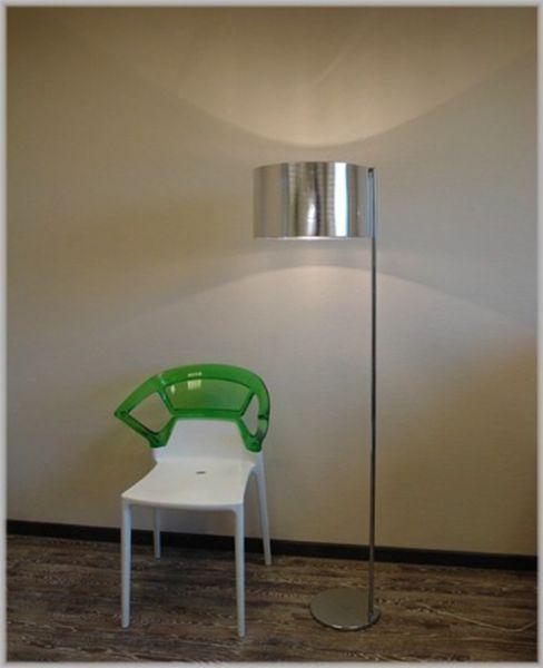 Puristische Designer Stehleuchte BURTON Silber Elegant