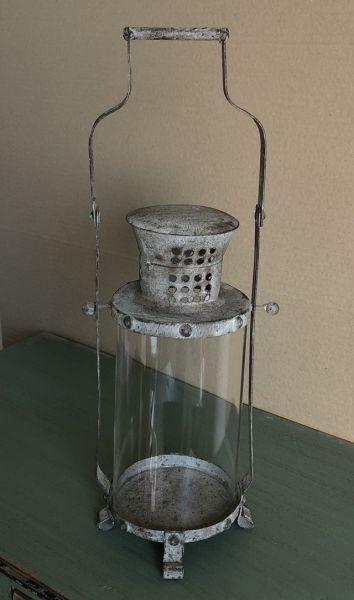 Kleines Windlicht Laterne Metall Glas Shabby Chic