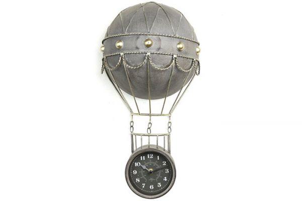 Nostalgie Wanduhr Heißluftballon JACQUES Metall L
