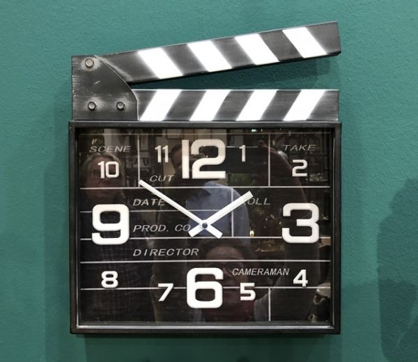 Wanduhr Filmklappe Regieklappe