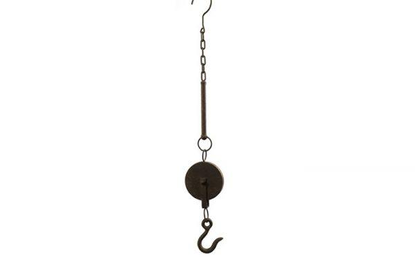 Deko-Flaschenzug Vintage Metall Rost Patina S-Haken L67 cm