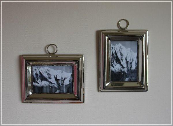 Zwei Bilderrahmen NAVID aus Aluminium