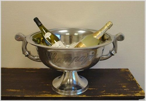 Edler Champagnerkühler im XXL Format Schale Sektkühler Ø 49 cm !