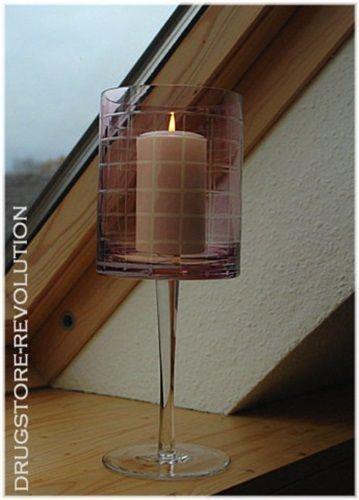 Romantisches Windlicht FLIEDER auf Stand H30cm