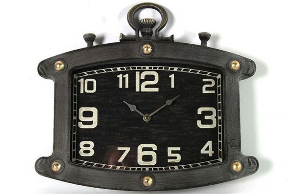 Wanduhr Armbanduhr Taschenuhr Vintage Grau 40x36