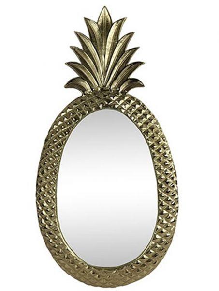 Wandspiegel Pineapple Design Ananas H82cm