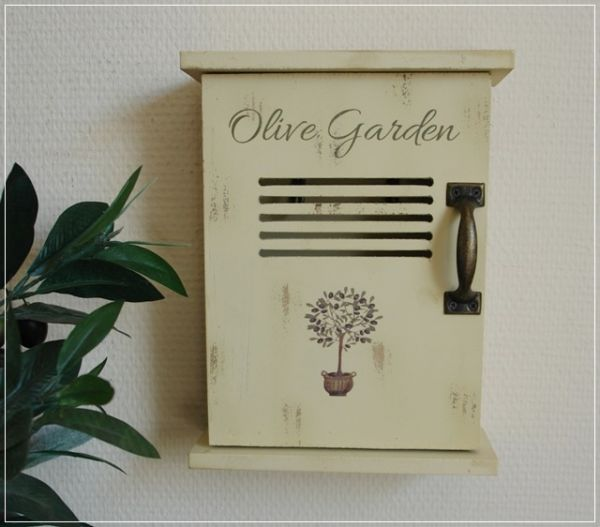 Dekorativer Schlüsselkasten OLIVE GARDEN Landhaus Stil