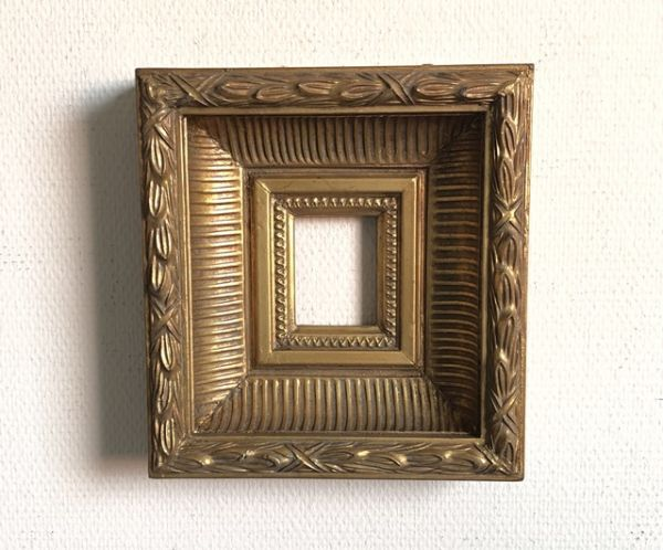 Rahmen Bilderrahmen Barock Stil Gold 26x24cm