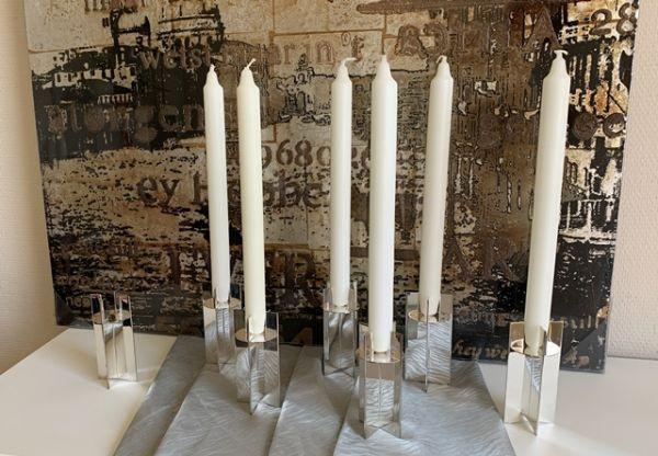 Designer Kerzenleuchter Stecksystem von RZ Silber