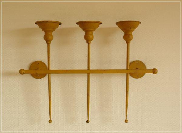 Wand-Kerzenhalter MINNE Eisen H42cm