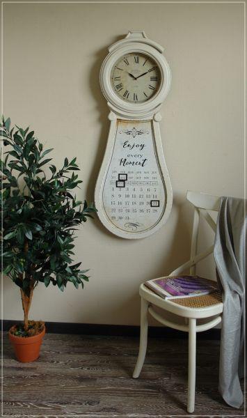 Wanduhr DAILY mit ewigem Kalender Landhaus Shabby