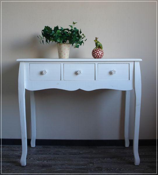 Konsole FREY Holz Weiß im Landhaus Stil