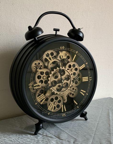 Große Tischuhr Design Glockenwecker H48 D39cm