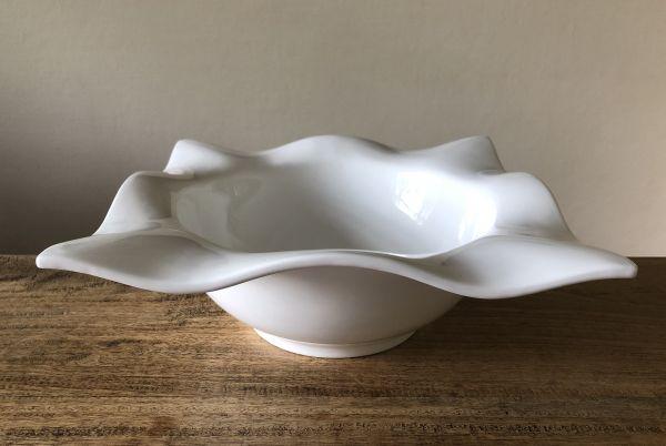 Designer Schale WELLE Weiß Porzellan