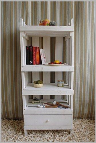 Regal Altholz Weiß Landhaus Shabby Impressionen