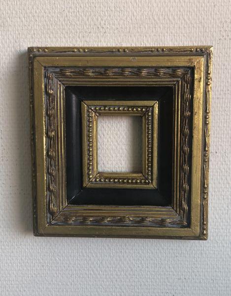 Rahmen Bilderrahmen Barock Stil Gold Schwarz 25x23cm