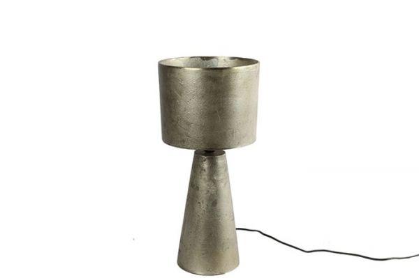 Tischleuchte ChaZ Metall Silber Raw-Finish H55cm M